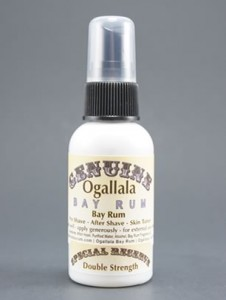2 oz Genuine Ogallala Bay Rum Cologne Double Strength Special Reserve Label