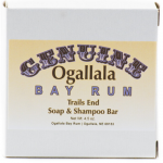 Genuine Ogallala Bay Rum and Trails End Bath Soap/Shampoo Bar